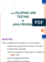 Developing and Testing a Java Program