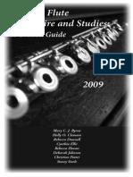 Selected Flute Repertoire and Studies
