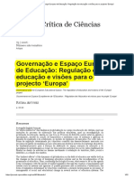 Futuro Da Educação Projecto Europa