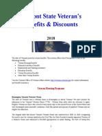 Vet State Benefits & Discounts - VT 2018