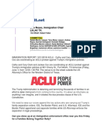 Lico Reyes - IMMIGRATION REPORT 5312018 ACLU - Cathy and Cary Clark and Jackee Cox are coordinating an ACLU protest against Trump's immigration policies.pdf