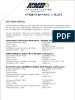 Correspondent Banking Update