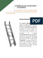 El Ángulo Correcto de La Escalera Extensible