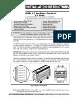 MSD 7500 Installation instructions