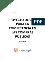 PROYECTO GUÍA PARA COMPETENCIA EN LAS COMPRAS PÚBLICAS