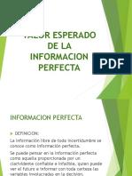 Valor Esperado de La Informacion Perfecta