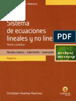 Temas Selectos - Sistema de Ecuaciones Lineales y No Lineales Compress
