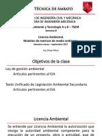 Semana 8_Medioambiente_Licencia Ambiental y Matrices