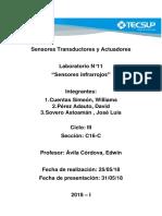 Lab 11 Sensor Infrarrojo