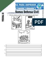 Ficha de Somos Defensa Civil Para Primero de Primaria