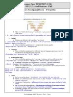 [IF215] UML Mod Lisation Des Traitements - Test Et Corrig - 2007