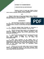 Contract of Undertaking