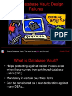Oracle Database Vault Failure