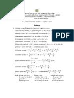 Lista de Exercicios - Geometria Analítica - Planos