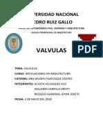 VALVULAS SANITARIAS