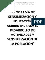 Programa de Sensibilización y Educación Ambiental