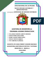 Auditoria de Desempeño Jovenes Productivos PERU PUNO