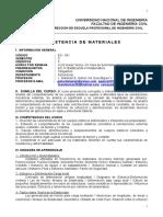 Resistencia de Materiales ES-531