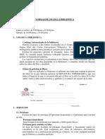 Normas de Uso Biblioteca Villanueva