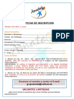 Ficha de Inscripción Ámate 2017