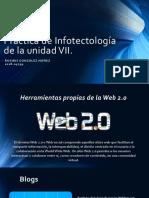La sección de Herramientas propias de la WEB 2.0