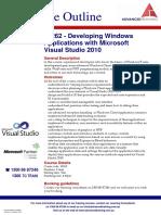 10262 Developing Windows Applications With Microsoft Visual Studio 2010