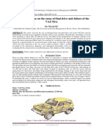 Technical expertise on the cause of final drive unit failure of the VAZ Niva