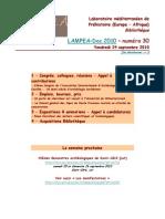 LAMPEA-Doc 2010 – numéro 30 / Vendredi 24 septembre 2010
