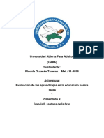 Evaluación de Los Aprendizajes en La Educación Básica Tarea 1 Placida g.t