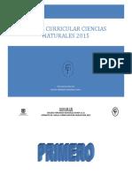 Malla Curricular Ciencias Naturales 2015