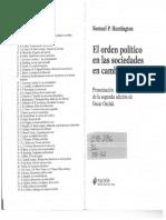 El Orden Político en Las Sociedades en Cambio Huntingtong. S (2014) El Orden Politico en La Sociedad de Cambio. Barcelona. España. Editorial Paidós