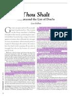 Fullam Thou Shalt