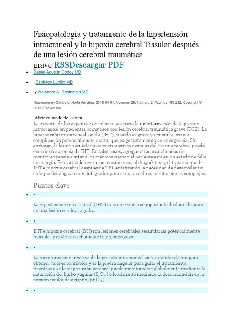Como tratar la hipertension intracraneal