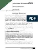OBJETIVOS METODOLOGIA DE INVESTIGACION