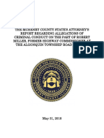 McHenry County final report on allegations of criminal conduct by Robert Miller, former Highway Commissioner