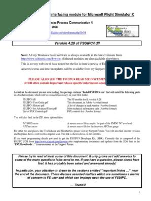 Fsuipc4 User Guide | Windows Registry | Wire Transfer