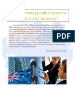 migration to australia for business