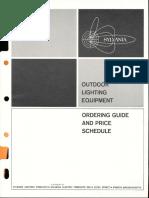 Sylvania Outdoor Lighting Equipment Ordering Guide & Price Schedule 10-65