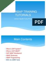 SAP-ABAP Training Tutorals