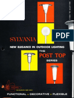 Sylvania Lighting Equipment Post Top Series Brochure 12-64