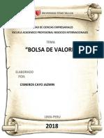INFORME DE LA BOLSA DE VALORES