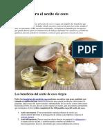 160 Usos Para El Aceite de Coco