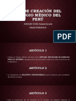 Ley de Creación Del Colegio Médico Del Perú