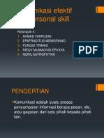 Komunikasi Efektif Interpersonal Skill