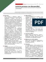 Ficha Integracion Social Personas Con Discapacidad
