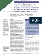 Estudo sobre efeito do macarrão  na dieta