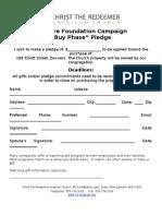 Pledge Sheet Sure Foundation