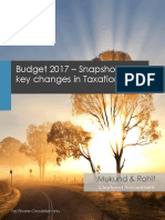 Snapshot for Union Budget 2017 Final Copy PDF