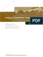Product Management Framework White Paper