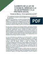 El Reglamento de La Ley de Movilidad Inhibe El Derecho a La Libertad de Expresión y a La Protesta Social